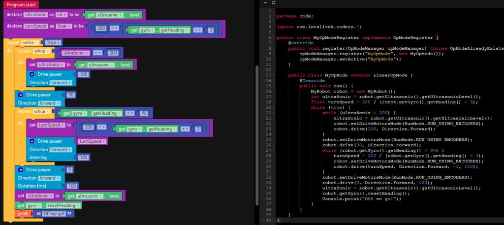 CoderZ Visual Code Editor