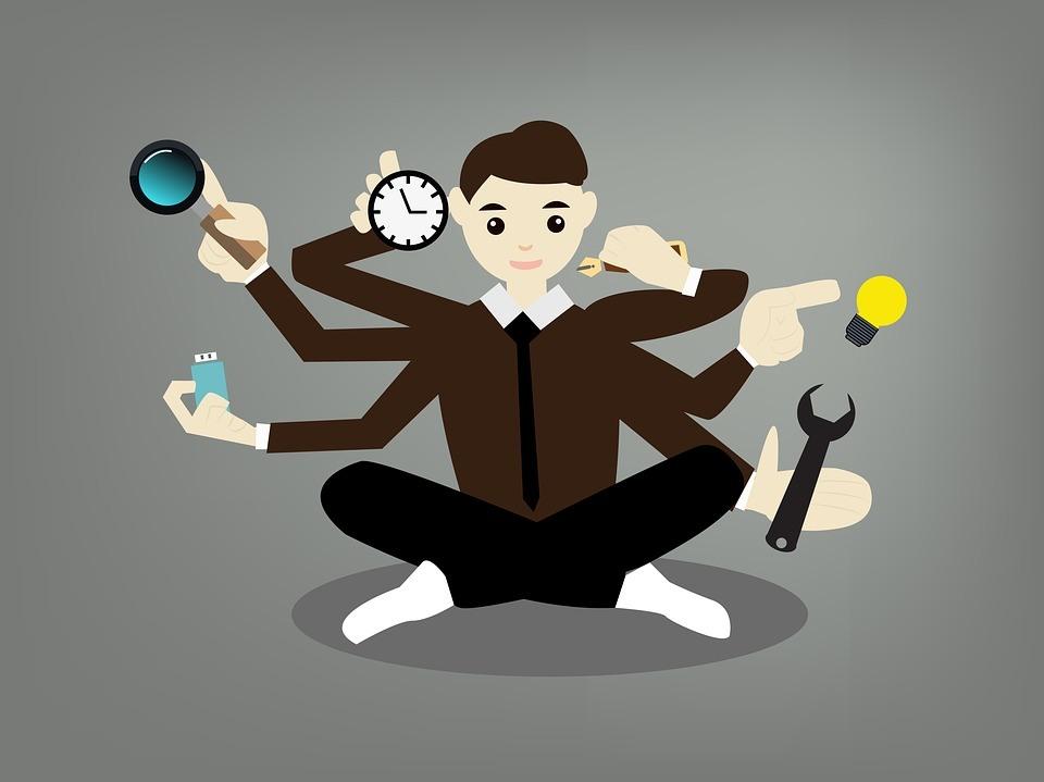 Multitasking man - CoderZ Blog