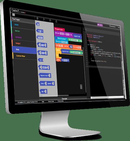 CoderZ screen ev3 simulator