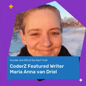 Image of CoderZ writer Maria Anna van Driel STEM Coding Science